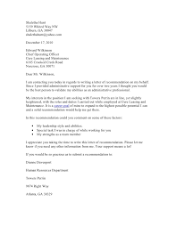 Request Reference Letter Request For Recommendation Letter