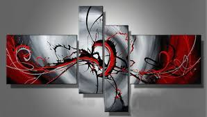 4 piece abstract wall art