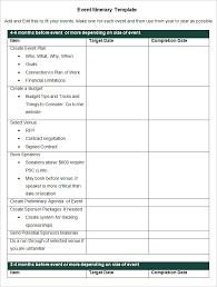 Sample Itinerary Forms Event Itinerary Sample Under Fontanacountryinn Com