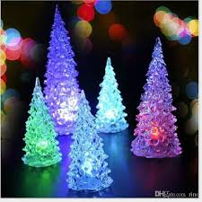 2017 Christmas Decorations Gifts Cute Mini Led Christmas Tree With Light  13cm Hight Can Change Colors Xmas Home Decorations From Rino, $1.61    Dhgate.Com