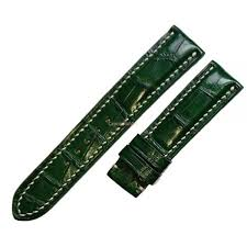 crocodile leather watch strap band 18mm 19mm 20mm 21mm 22mm 24mm green