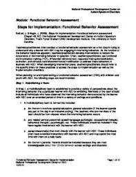 Implementation Checklist For Functional Behavior Assessment ...