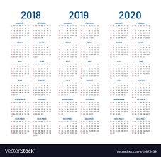 2020 2020 Weekly Planner Year 2018 2019 2020 Calendar