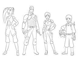 Star Wars Rebellen Karakters Kleurplaat Gratis Kleurplaten Printen