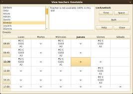 University Timetable Maker Fet Timetabling Software Wikipedia