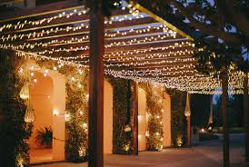 Outdoor garden lighting ideas Solar Lights Warm White String Light Canopy On Pergola Lights4fun Garden Lighting Ideas Inspiration Lights4funcouk