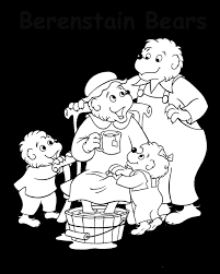 Small Picture Coloring Activity Pages The Berenstain Bears Pampering Mama