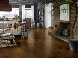 contemporary living e with wood floor