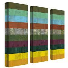 trademark fine art wooden abstract iii by michelle calkins 3 panel wall art set