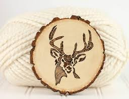 diy wood burnt deer coasters via gina michele com