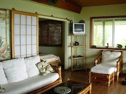 Japanese Dining Set Traditional Japanese Living Room Wooden Table On Beige Carpet Dark