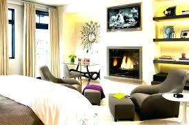 master bedroom corner fireplace doors