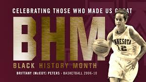 Black History Month: Brittany (McCoy) Peters - University of Minnesota  Athletics