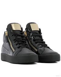 giuseppe zanotti giuseppe zanotti design women s rs80000002 black leather hi top sneakers on line