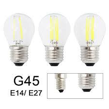 Light Bulb Shell Us 1 0 17 Off Retro G45 Led 2w 4w 6w Dimmable Filament Light Bulb E27 E14 Cob 220v Glass Shell Vintage Style Lamp In Led Bulbs Tubes From Lights