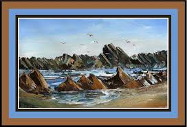 paint rocks and ocean