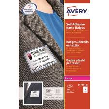 Avery Name Badge Labels Laser Self Adhesive 80x50mm Blue Border L4787 20 200 Labels