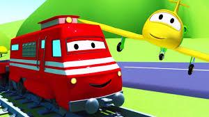 Troy Le Train Et L Avion Car City Dessin Anim S Pour Enfants