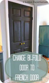Bifold Kitchen Cabinet Doors Change Bi Fold Doors To French Doors 2 Little Supeheroes2 Little