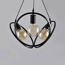 contracted led 3 light globe novelty chandelier downlight painted finishes metal mini style