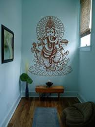 ik430 wall decal sticker room decor wall art mural indian god om elephant hindu success buddha on ganesh 3d wall art with amazon wall decal vinyl sticker decals art decor design