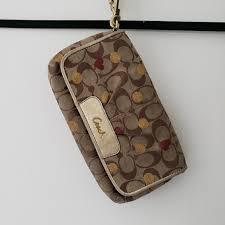 Coach  Large Wristlet Wallet Hearts   Polka Dots