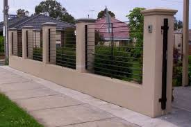 Perfect Design Fence Designs Stunning Brick Design And On Pinterest Top 20  Beautiful
