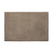 bouncecomfort plush chenille linen 17 in x 24 in memory foam bath mat