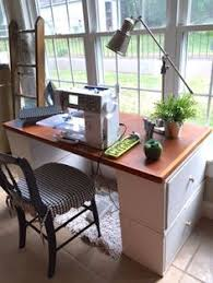 make your own office desk. make your own desk or sewing table with things you might already have office