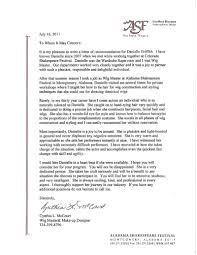 Wig Designer And Cosmetologist Recommendation Letters