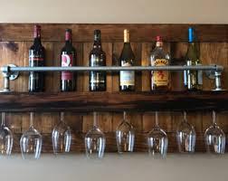 Industrial Wine Rack - Gift - Rustic Wine Rack - Wall Wine Rack - Wine Rack