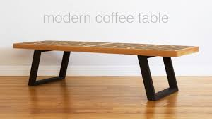 build a mid century modern coffee table nelson bench woodworking