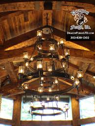 great northern lodge modern rustic chandelier dragon forge