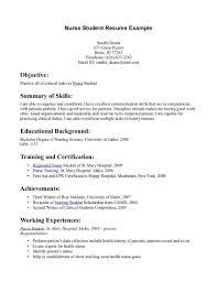 Undergraduate Resume Template Unique Resume Examples For Nursing