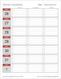 weekly schedule template with hours free weekly schedule template for excel