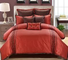 9 piece queen gle auburn chocolate comforter set
