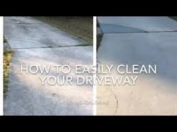 how to clean your driveway with regular