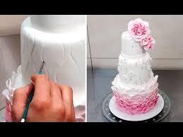 Wedding Cake Decorating Tutorial Decorar Con Fondant By Cakes