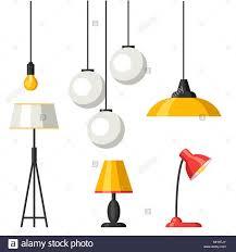 Satz Von Lampen Möbel Kronleuchter Boden Und Tischleuchte