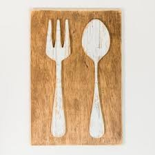 fork and spoon farmhouse wall d cor on kitchen fork knife spoon wall art french painting with big fork and spoon wall decor wayfair