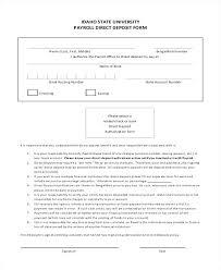 Direct Deposit Authorization Form Best Direct Deposit Authorization Form Template Canada Print Direct