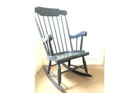 grey rocking chair pad