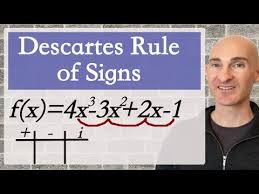 Descartes Rule Of Signs Youtube