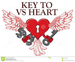 Heart Shape Design T Shirts T Shirt Design With Lock In Shape Of Winged Heart Stock