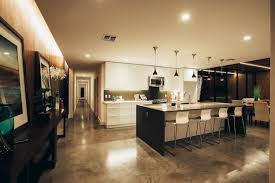 Polished Concrete Floor Kitchen Link House By The Ranch Mine