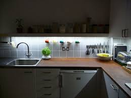 Under Counter Lighting Kitchen Kitchen Exciting Kitchen Lights Setup With Spotlight Effect