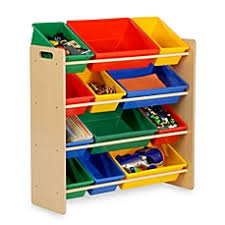 image of honey can do kids toy organizer and storage bins in natural baby playroom furniture