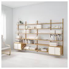 Ikea Svalnas Bamboo White Wall Mounted Storage Combination