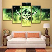 canvas poster home decor framed canberra raider rugby sport painting printe on canberra raiders wall art with canvas poster home decor framed canberra raider rugby sport painting
