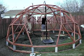 how to build a geodome greenhouse
